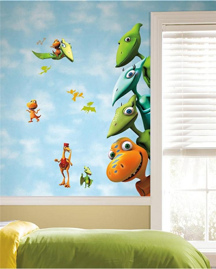 Babyzimmer wandgestaltung tiere  Kinderzimmer Wandtattoo - Dinosaurier-Abbildungen für Jungs