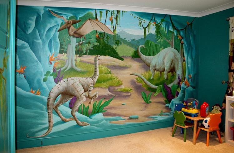 kinderzimmer dinosaurier