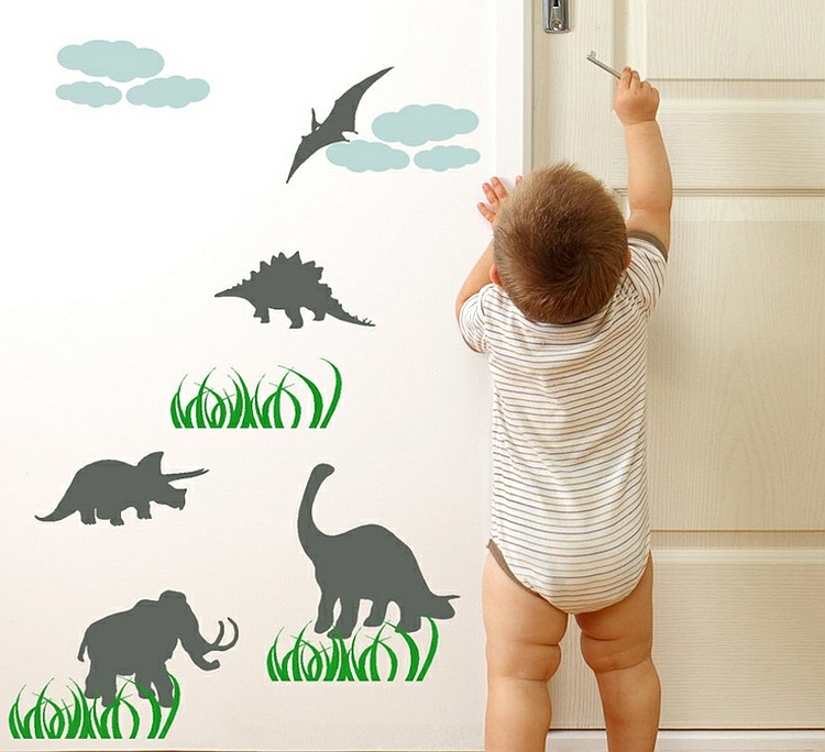 Kinderzimmer Wandtattoo - Dinosaurier-Abbildungen für Jungs