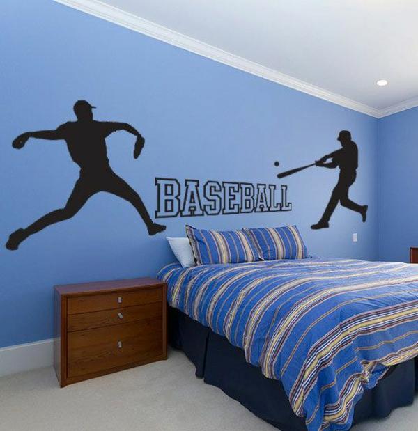 kinderzimmerwände gestalten kinder dekoideen baseball