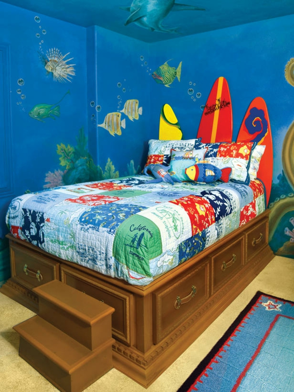 Kinderzimmerwände gestalten - reisen Sie durch die Kinderwelt