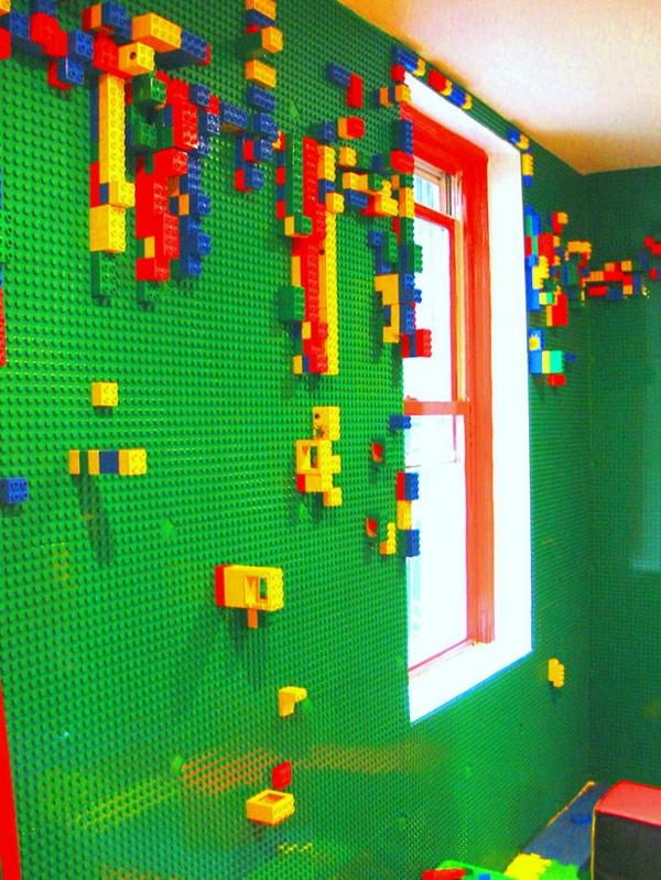 Kinderzimmerwände Gestalten Lego Wand