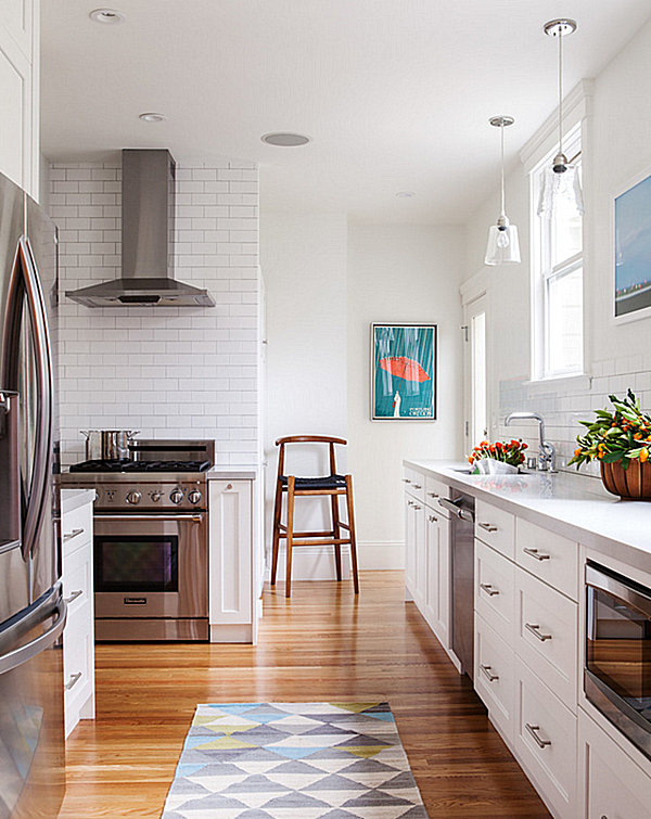 kleine küche gestalten coole einrichtungsideen holzboden verlegen