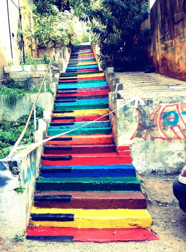 außenarchitektur art treppen verkleiden libanon straßenkunst