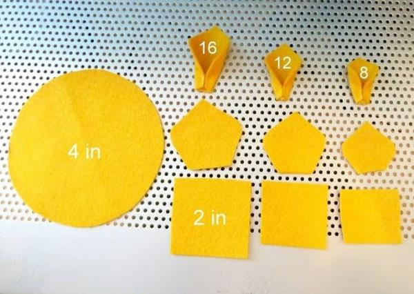 kreative bastelideen filzblume deko ideen selber machen blumenblätter aus filz