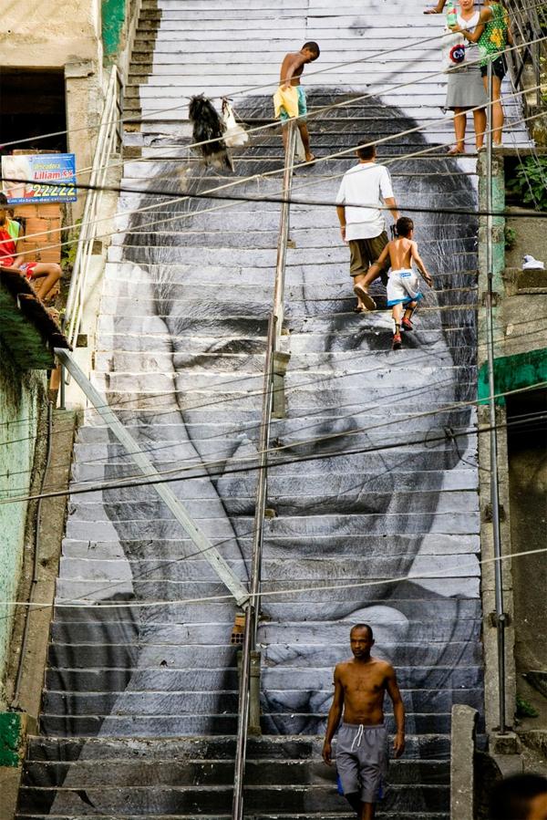 straßenkunst außenarchitektur art treppen verkleiden brasilien