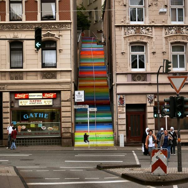 straßenkunst außenarchitektur art treppen verkleiden deutschland