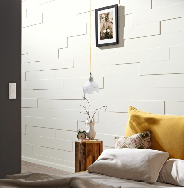 kunststoffpaneele weiß streichen modernes schlafzimmer gestalten wohnideen