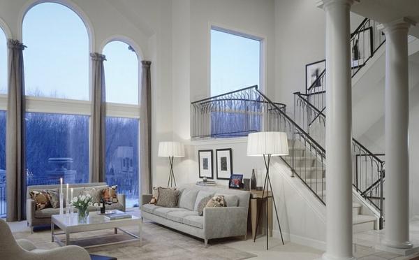 led standleuchten stativleuchten beleuchtung wohnzimmer weiß elegant wohnbereich