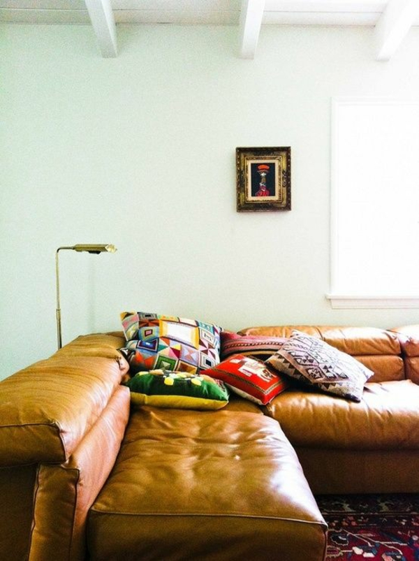ledersofa färben lederpflege wohnzimmer sofa
