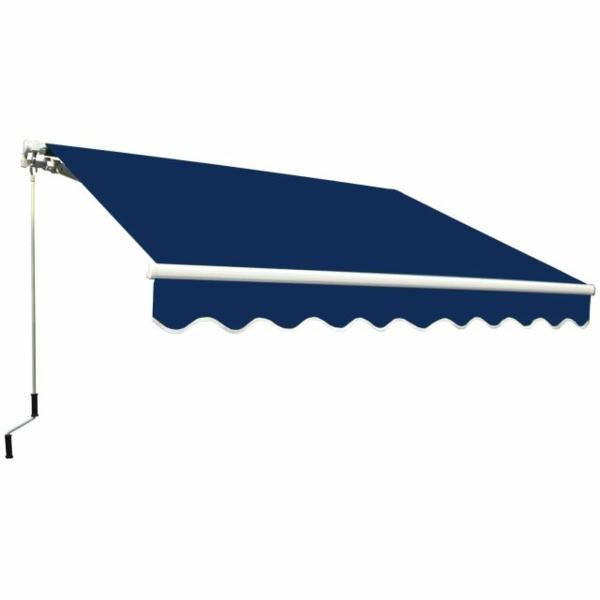 markise neu bespannen markisenstoff erneuern farbig königsblau