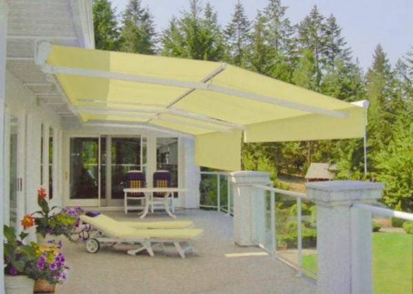 markisenstoff nach maß austauschen terrasse sichtschutz sonnenschutz markisentuch-gelb