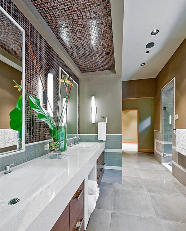 moderne badezimmer bodenfliesen einrichtungsideen beleuchtung