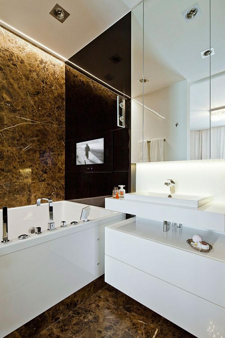 moderne badezimmer einrichtungstipps modern wohnen spiegelwand