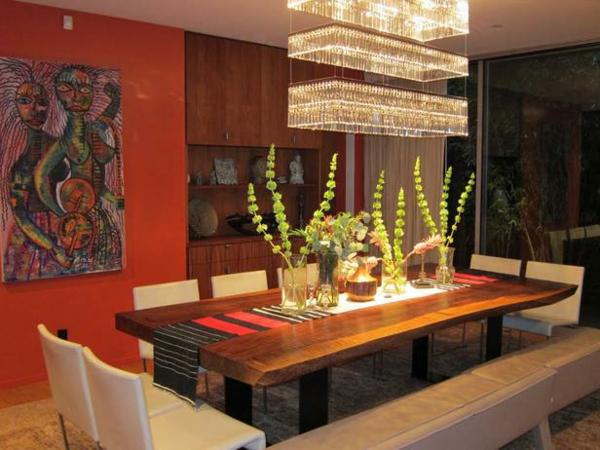 esszimmergestaltung interieur kronleuchter art ideen möbel