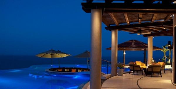 gartengestaltung patio sitzecke garten pool pergola