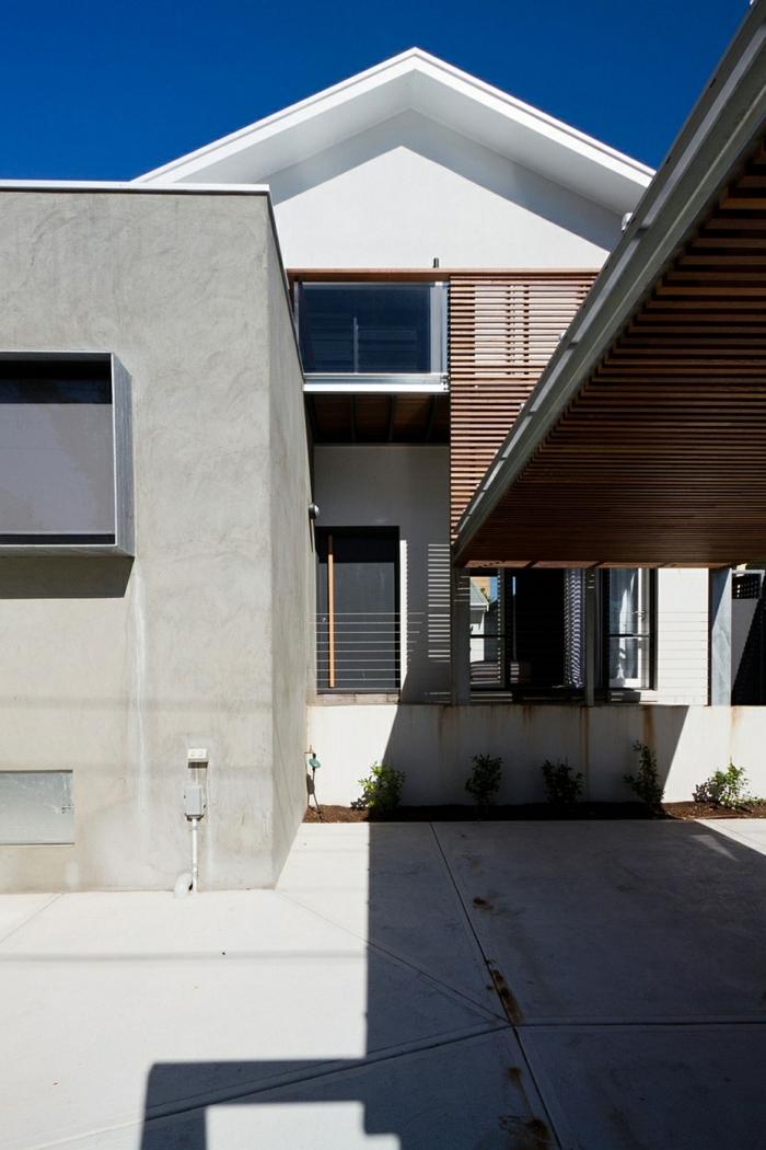 moderne inneneinrichtung aus holz außenbereich architektenhaus