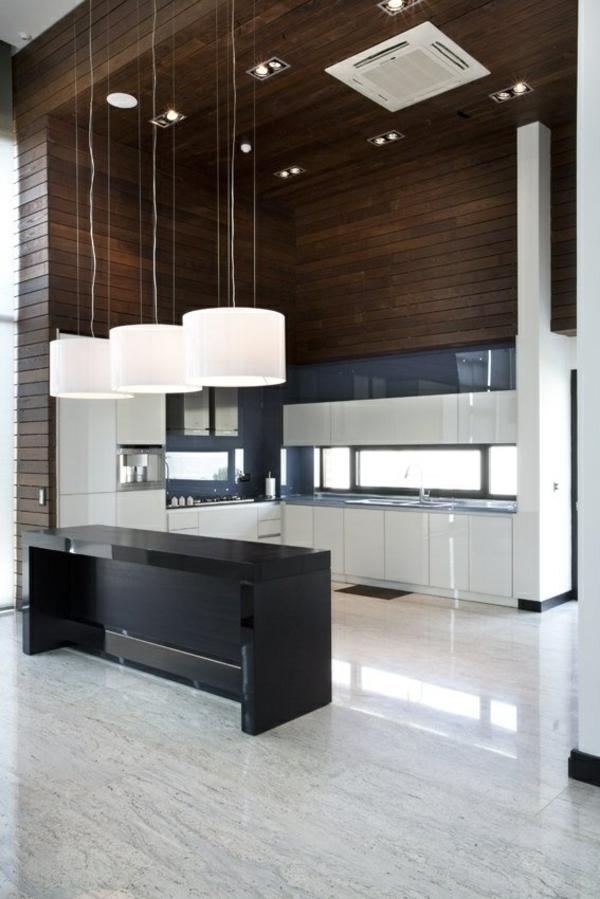 küche in weiß schwarzer küchenblock freistehend kücheninsel