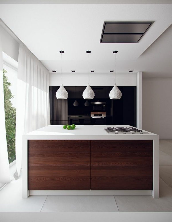 küche küchenblock freistehend kücheninsel zweifarbig kochplatte