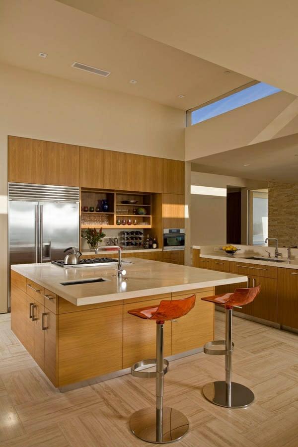 moderne küche küchenmöbel küchenblock freistehend eingebaute kochplatte