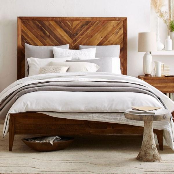 moderne kreative wohnideen schlafzimmer rustikal teppich geometrische muster