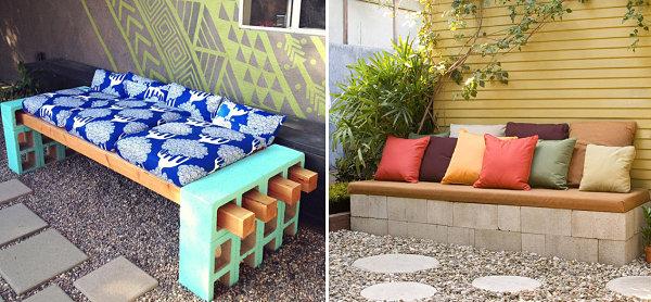 moderne terrassengestaltung garten möbel holzbalk selber bauen