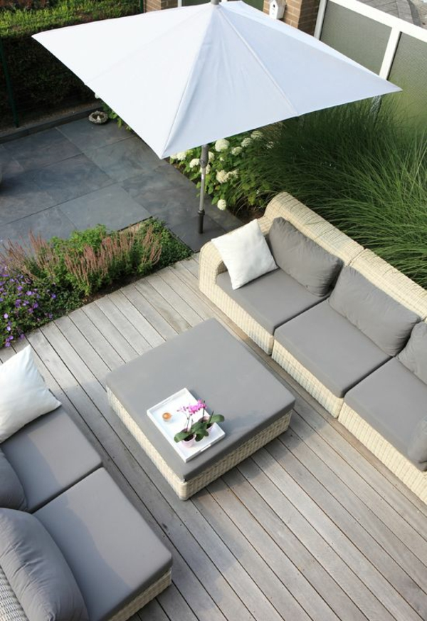 terrassengestaltung ideen 50 coole ideen f r rooftop. Black Bedroom Furniture Sets. Home Design Ideas
