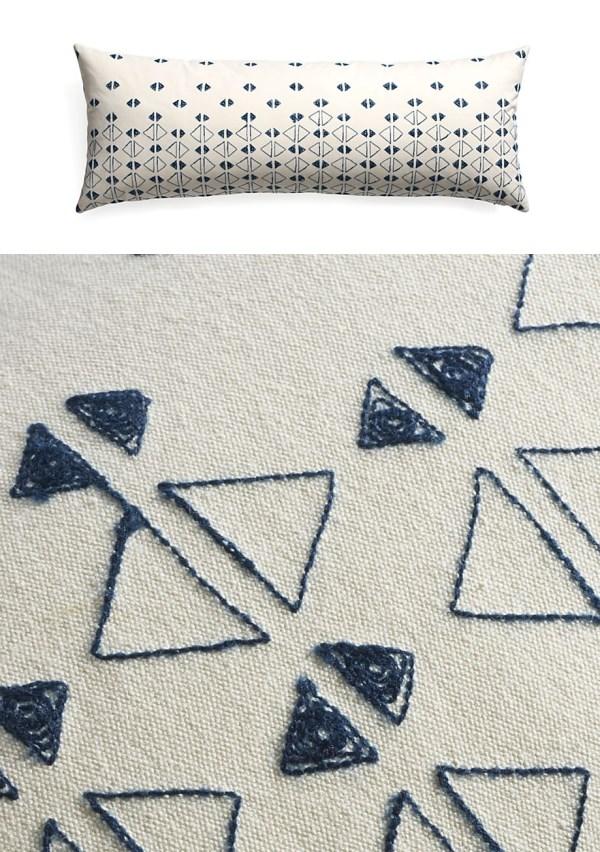 moderne wohnideen dekokissen wurfkissen geometrische muster