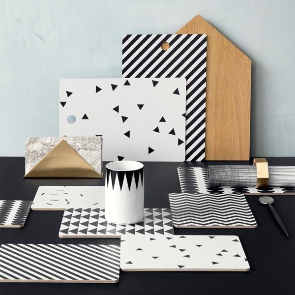 moderne wohnideen küche schneidebrett ideen geometrische muster