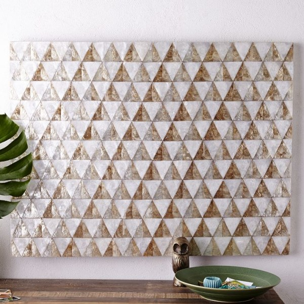 moderne wohnideen wanddeko geometrische muster dreieck figuren