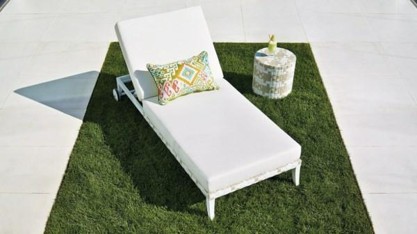 moderner lounge garten möbel liege rasenfläche