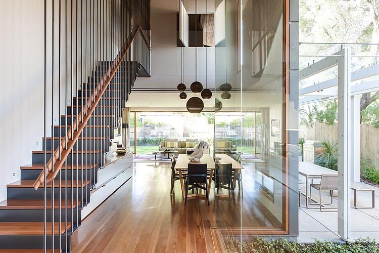 modernes haus Coogee Residenz Sydney innenbereich moderne inneneinrichtung glaswände