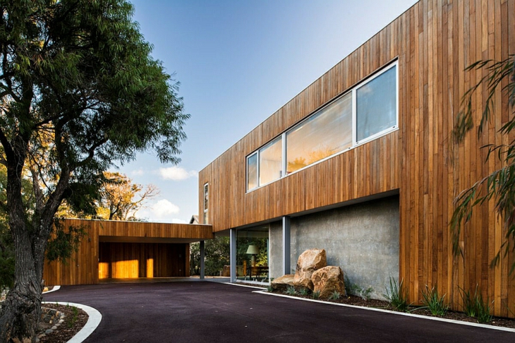 modernes haus strandhaus hausfassade moderne architektur