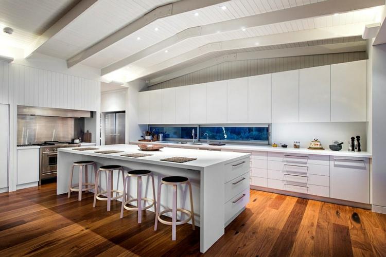 modernes haus strandhaus mehrblick moderne küche gestalten