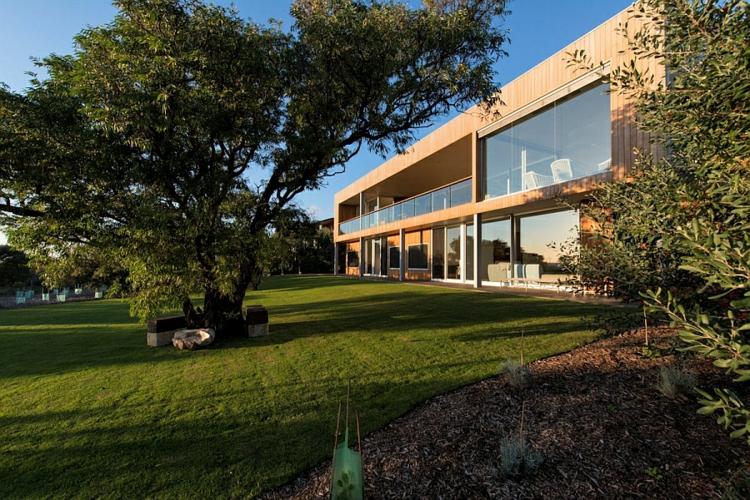 modernes haus strandhaus moderne architektur und design gartengestaltung ideen rasen
