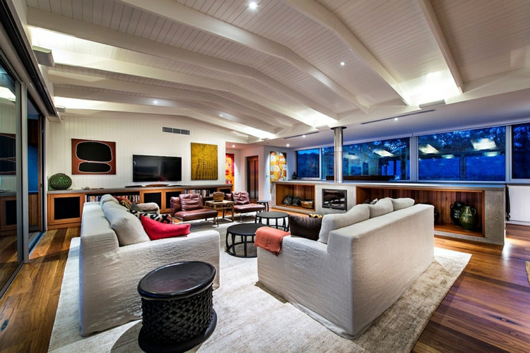 modernes haus strandhaus moderne inneneinrichtung wohnzimmer gestalten