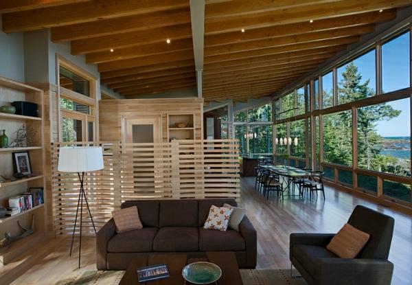 modernes haus wohnzimmer beleuchtungsideen led leuchten standleuchten stativlampen