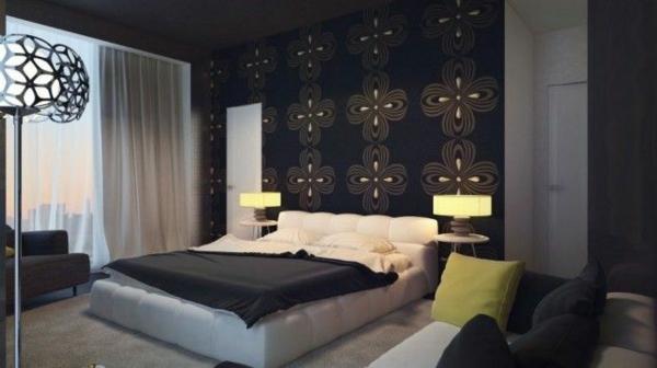 Schlafzimmer mit schräge modern gestalten  40 Individuelle Designentscheidungen - Schlafzimmerwand gestalten