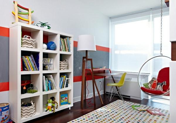 modernes wohnen kinderzimmer möbel designer ideen led standleuchten lernecke gestalten