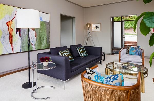 modernes wohnen wohnzimmer möbel designer lampen led standleuchten beleuchtung
