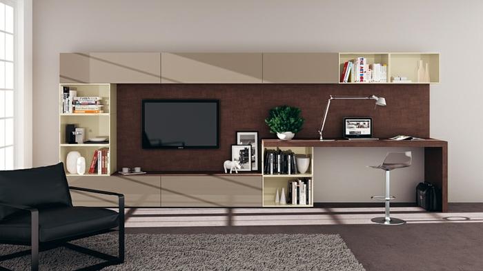 Wohnzimmer einrichtungsideen im minimalistischen stil for Scavolini pareti attrezzate