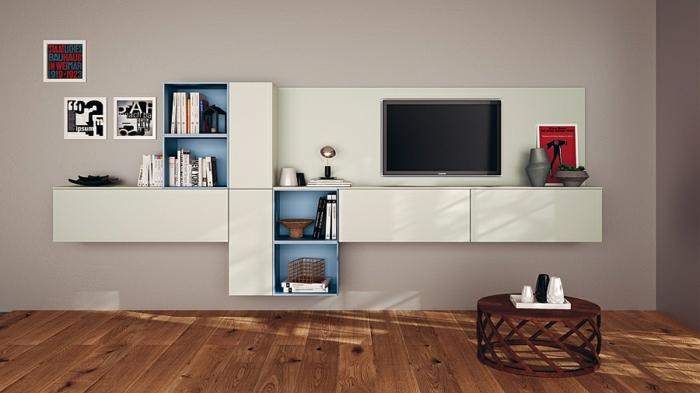 Wohnzimmer einrichtungsideen im minimalistischen stil for Moderne wandregale wohnzimmer