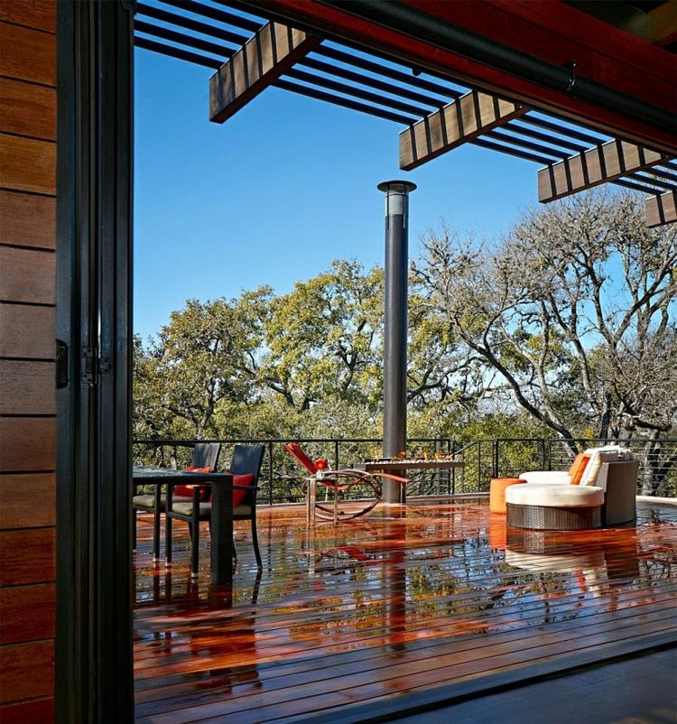 nachhaltige architektur grünes design residenz terrassendielen holzterrasse gestalten