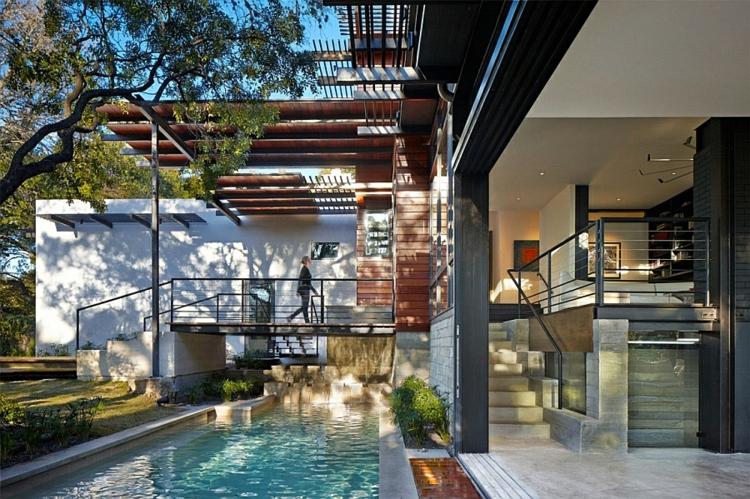 nachhaltige architektur green latern residenz außenbereich gartenpool