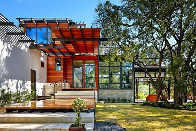 nachhaltige architektur green latern residenz texas usa
