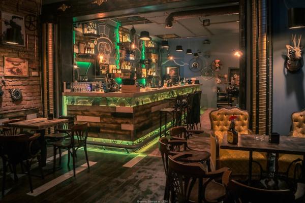 bar restaurant design tolle beleuchtung joben bistro rumänien