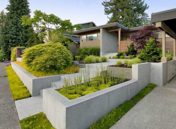 patio landschaft vorgarten gestalten architekturinteresse
