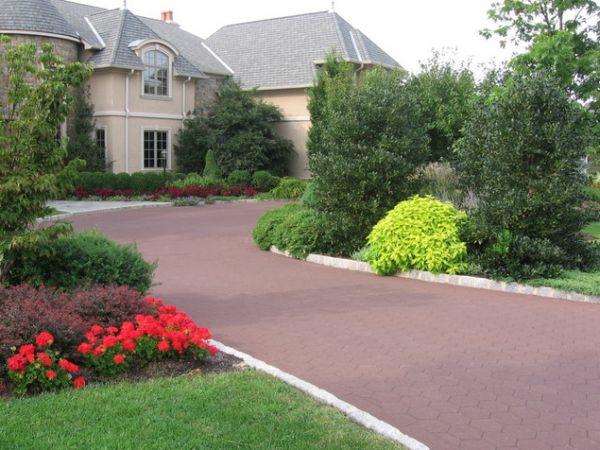 patio ideen landschaft vorgarten gestalten