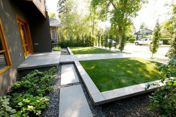 Modern House Beautiful Terrace And Landscape Patio Ideen Vorgarten Gestalten Kleiner Garten Symmetrisch