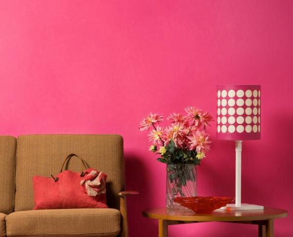 pinke wandfarbe wandgestaltung ideen trendfarbe wände streichen